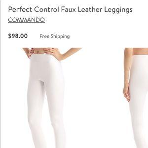 NWT white faux leather Commando